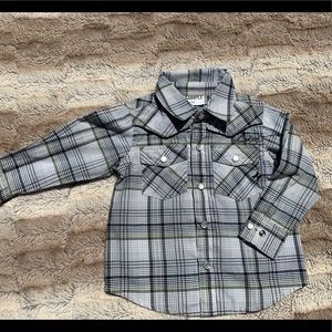 Hurley plaid western long sleeve button down
